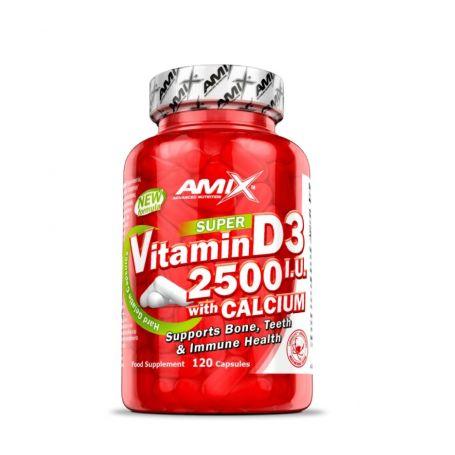 Vitamina D3 2500 I.U + Calcio 120 caps Amix