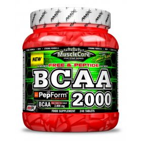 BCAA 2000 con Pepform 240 tabs Amix Musclecore