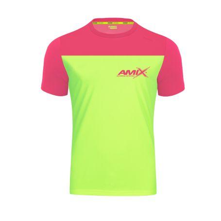 Camiseta Runfit Cube Verde lima - Rosa