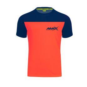 Camiseta Runfit Cube Naranja - Azul marino