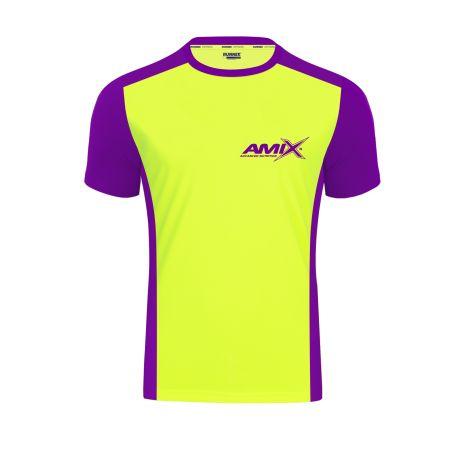 Camiseta Runfit Score amarillo - morado