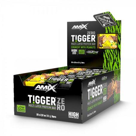 Barritas Tigger Zero Protein Bar 25 x 60 gr