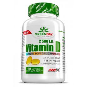 Vitamina D 2500 I.U 90 caps Mantenimiento de Huesos y Músculos