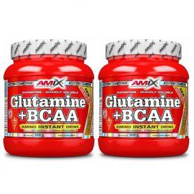 Glutamina + Bcaa´s Aminoacidos Ramificados 300gr + 300 gr