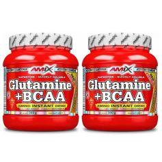 Glutamina + Bcaa´s Aminoacidos Ramificados 300gr + 300gr
