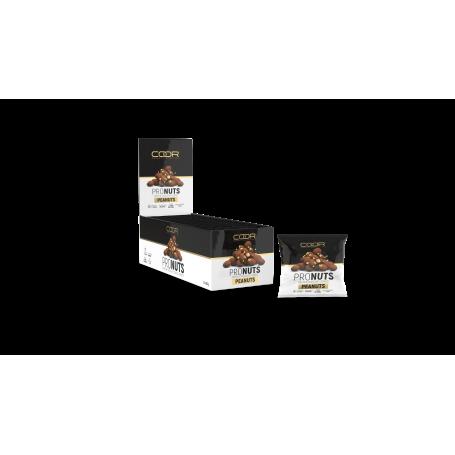 COOR PRONUTS 12 x 35 gr Cacahuetes de chocolate proteico