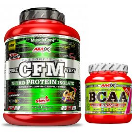 Pack Proteína CFM Nitro Protein Isolate 2 kg + BCAA Micro Instant Juice 300gr