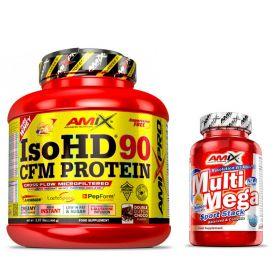Proteína Pro Iso HD CFM Protein 90 1800 gr + Multi Mega Stack 30 tabs