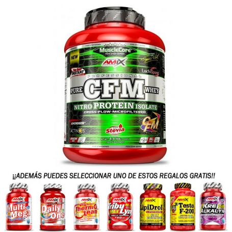Pack Proteína CFM Nitro Protein Isolate 2 kg + regalo 30 caps