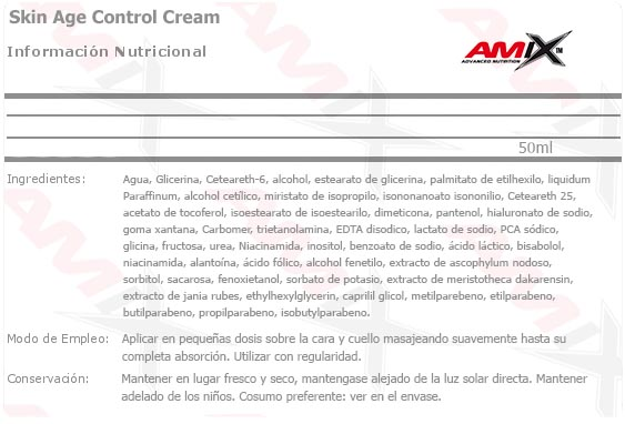 Ficha Técnica Skin Age Control Cream